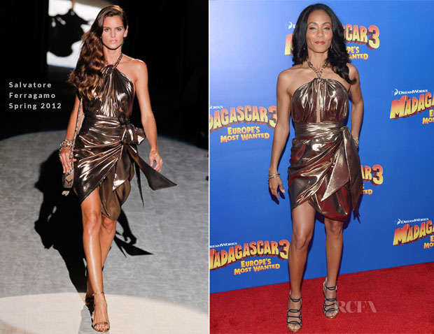 Jada Pinkett-Smith In Salvatore Ferragamo - 'Madagascar 3 Europe's Most Wanted' New York Premiere