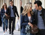 Jennifer Aniston & Justin Theroux' Romantic Stroll In Paris