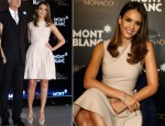 Jessica Alba In Christian Dior - Montblanc Sanlitun Concept Store Press Conference
