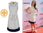 Jessica Alba's Tory Burch Sleeveless Dress