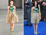 Jessica Brown-Findlay In Peter Pilotto - 'Prometheus' London Premiere