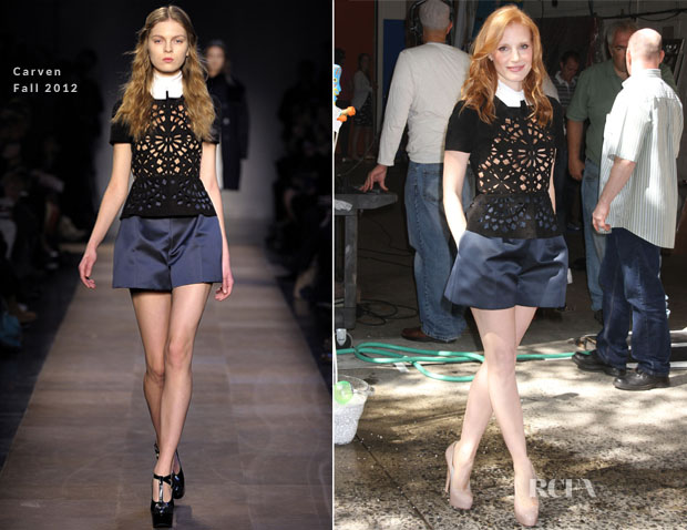 Jessica Chastain In Carven - Live With Kelly