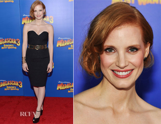 Jessica Chastain In Vintage YSL - 'Madagascar 3 Europe's Most Wanted'