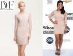 Jordin Sparks' Diane von Furstenberg Zarita Lace Sheath Dress