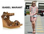 Kate Bosworth's Isabel Marant Handy Leather Wedge Sandals