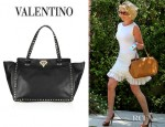 Katherine Heigl's Valentino Studded Leather Tote