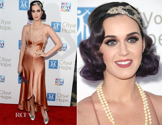Katy Perry In Vintage Nolan Miller – City of Hope's Music And Entertainment Industry Group Honors Bob Pittman