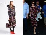 Keira Knightley In Mulberry - JFK Airport