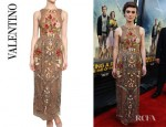 Keira Knightley's Valentino Hand Made Embroidered Silk Tulle Dress