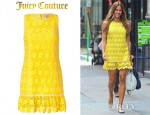 Kelly Bensimon's Juicy Couture Daisy Guipure Dress And Alexander Wang Rocco Satchel