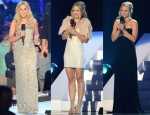 Kristen Bell Hosts The 2012 CMT Music Awards In Collette Dinnigan & Monique Lhuillier