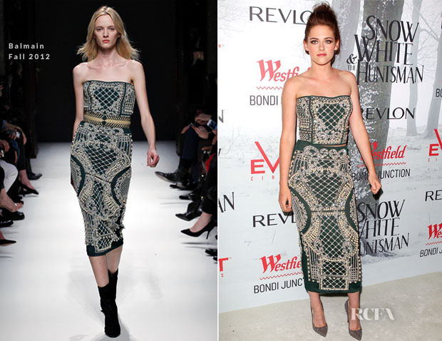 Kristen Stewart In Balmain - Snow White & The Huntsman Sydney Premiere