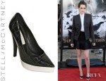 Kristen Stewart's Stella McCartney Croco Print Pointed Pumps