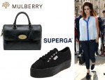 Lana Del Rey's Superga Sneakers And Mulberry Del Rey Bag