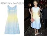 Laura Bailey's Jonathan Saunders Freda Degradé Jacquard Dress