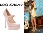 Lea Michele's Dolce & Gabbana Court Shoe Pumps