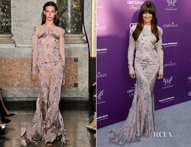 Lea Michele In Emilio Pucci - 11th Annual Chrysalis Butterfly Ball