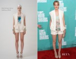 Leighton Meester In Christian Cota - 2012 MTV Movie Awards