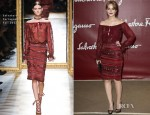 Leighton Meester In Salvatore Ferragamo - Salvatore Ferragamo Resort 2013 Presentation