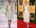 Leslie Bibb In Monique Lhuillier - 5th Annual Veuve Clicquot Polo Classic