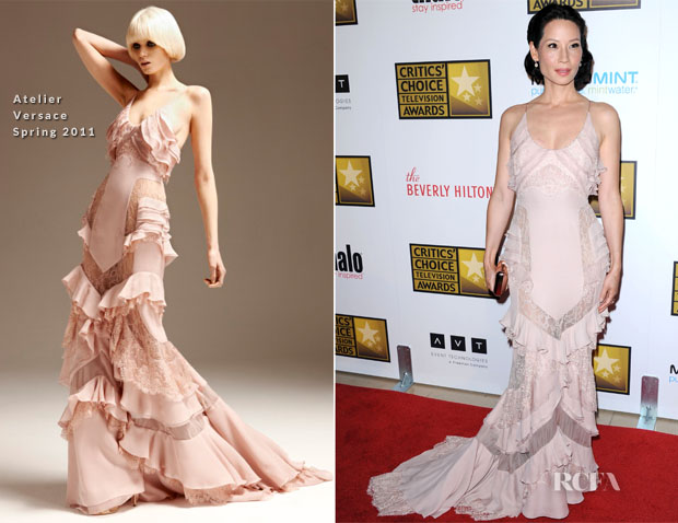 Lucy Liu In Atelier Versace – 2012 Critics' Choice Television Awards