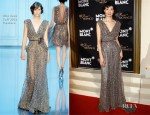 Maggie Cheung In Elie Saab Couture - Montblanc New And Biggest Concept Store World Premiere