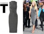 Malin Akerman's T by Alexander Wang Twist Front Jersey Dress