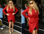 Mariah Carey In YSL - Dorchester Hotel
