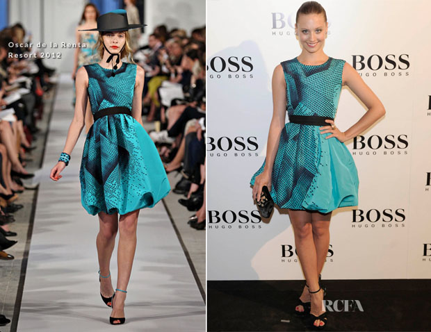 Michelle Jenner In Oscar de la Renta - Hugo Boss Party