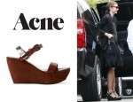 Miranda Kerr's Acne Estelle Wedge Sandals