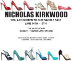 Nicholas Kirkwood Sample Sale June 14-15
