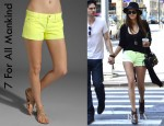 Nina Dobrev's 7 For All Mankind Cut Off Shorts