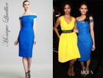 Nina Dobrev's Monique Lhuillier Off The Shoulder Tulle Dress