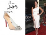 Olivia Munn's Christian Louboutin Just Picks Ankle Strap PVC Pumps