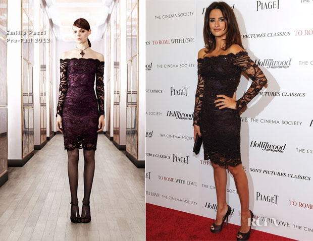 Penelope Cruz In Emilio Pucci - 'To Rome With Love' New York Screening