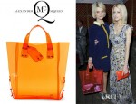 Pixie Geldof's MCQ by Alexander McQueen Kingsland Transparent Shopper