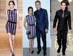 Rachel Bilson In Versus & Hayden Christensen In Versace - Versace Spring 2013 Menswear Presentation