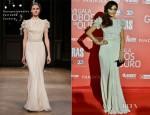 Raquel Prates In Georges Hobeika Couture - Globos De Ouro 2012