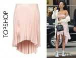 Rihanna's Topshop Pleated Dip Back Skirt