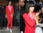 Rihanna In Acne - Corinthia Hotel London