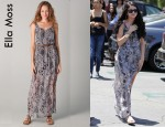 Selena Gomez' Ella Moss Stained Glass Maxi Dress