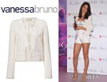 Selena Gomez' Vanessa Bruno Short Buttonless Jacket
