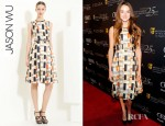 Shailene Woodley's Jason Wu Silk & Wool Jacquard Dress