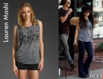 Vanessa Hudgens' Lauren Moshi Effie Rock And Roll Muscle Tank