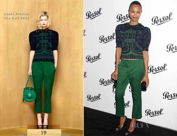 Zoe Saldana In Louis Vuitton -  Persol Magnificent Obsessions Event