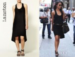 Zoe Saldana's Lanston Racer Back Circle Dress