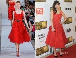 Zooey Deschanel In Oscar de la Renta - 2012 Critics' Choice Television Awards