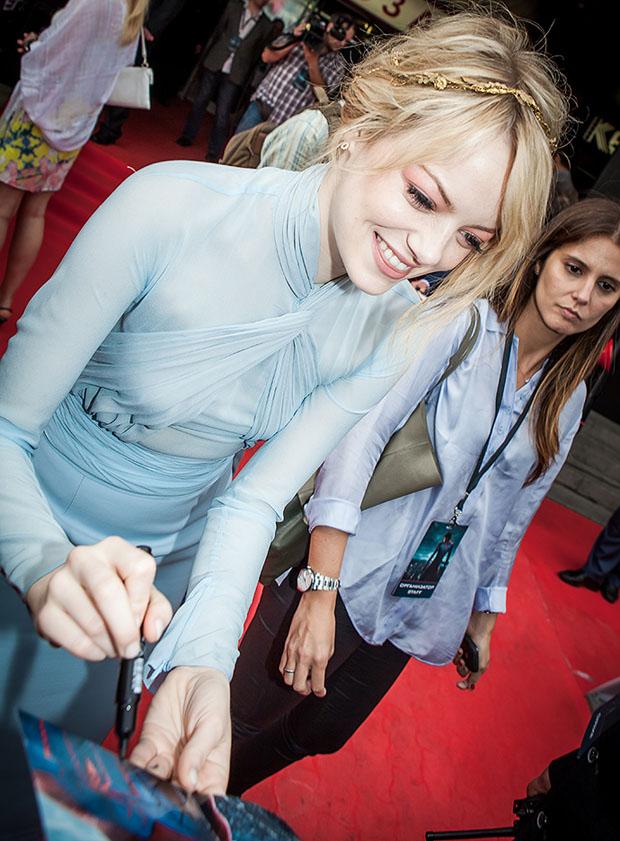 Emma Stone in Emilio Pucci