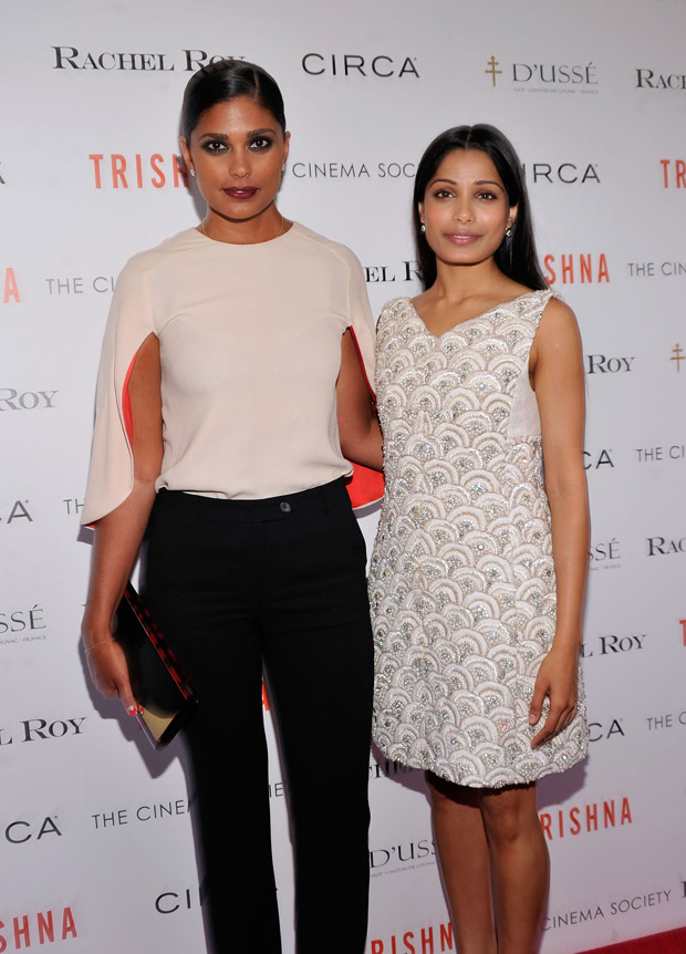 Freida Pinto in Rachel Roy