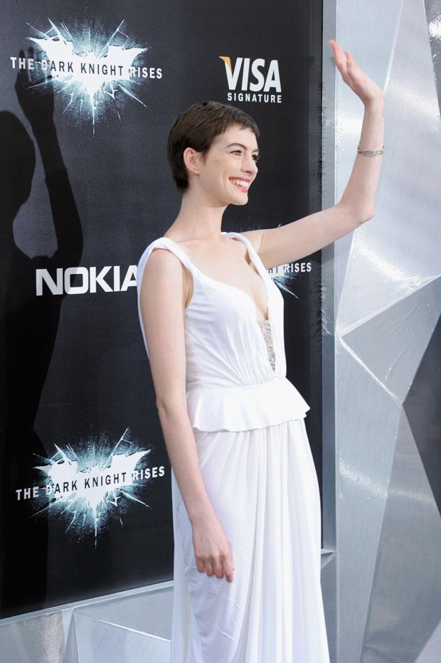 Anne Hathaway in Prabal Gurung